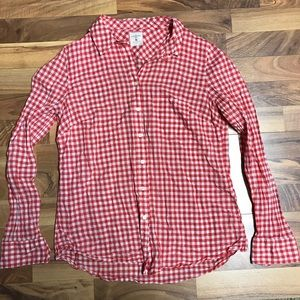 Checkered Black and Red Button Down Gap